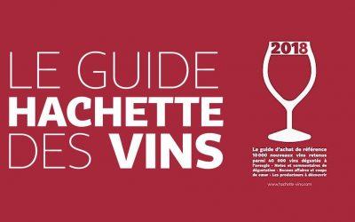 Nos vins reconnus par le Guide Hachette 2018